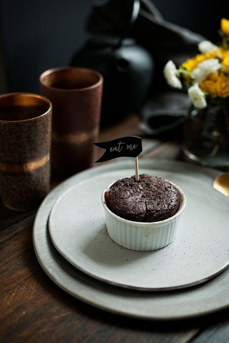 Babeczki czekoladowe z solonym karmelem łatwe i pyszne – White Plate