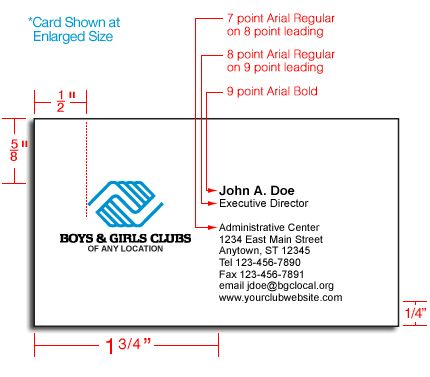 standard business cards dimensions