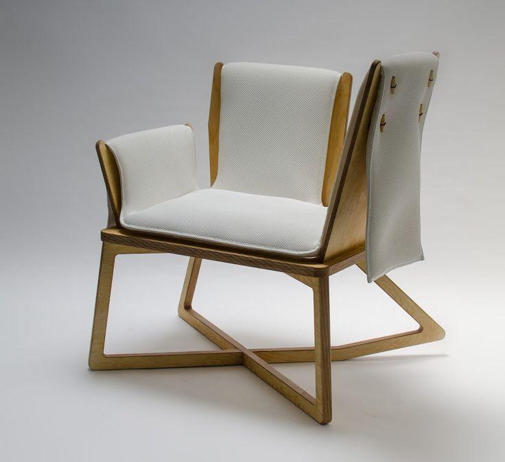 Fauteuil Claude position variable par Benjamin Lina  #design #fauteuil #armchair #rockingchair #chair #chaise #pdw15