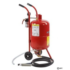 Sodastraalketel 37,5 liter - Soda stralen met mobiele straalketel  37,5 L. (10 Gallon)