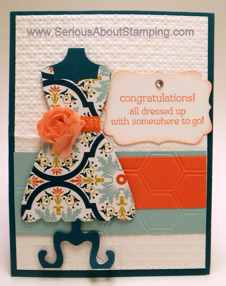 Congratulations dress card by Charmaine
