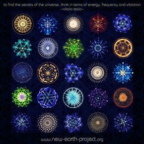 "Sound waves and their patterns: ""To find the secrets of the universe, think in terms of energy, frequency and vibration"" - Nicola Tesla"