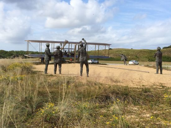 First Flight Sculpture in Kitty Hawk, NC © The Gracious Posse