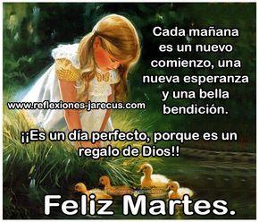 Feliz Martes, ¡¡Es un día perfecto , porque es un regalo de dios!!