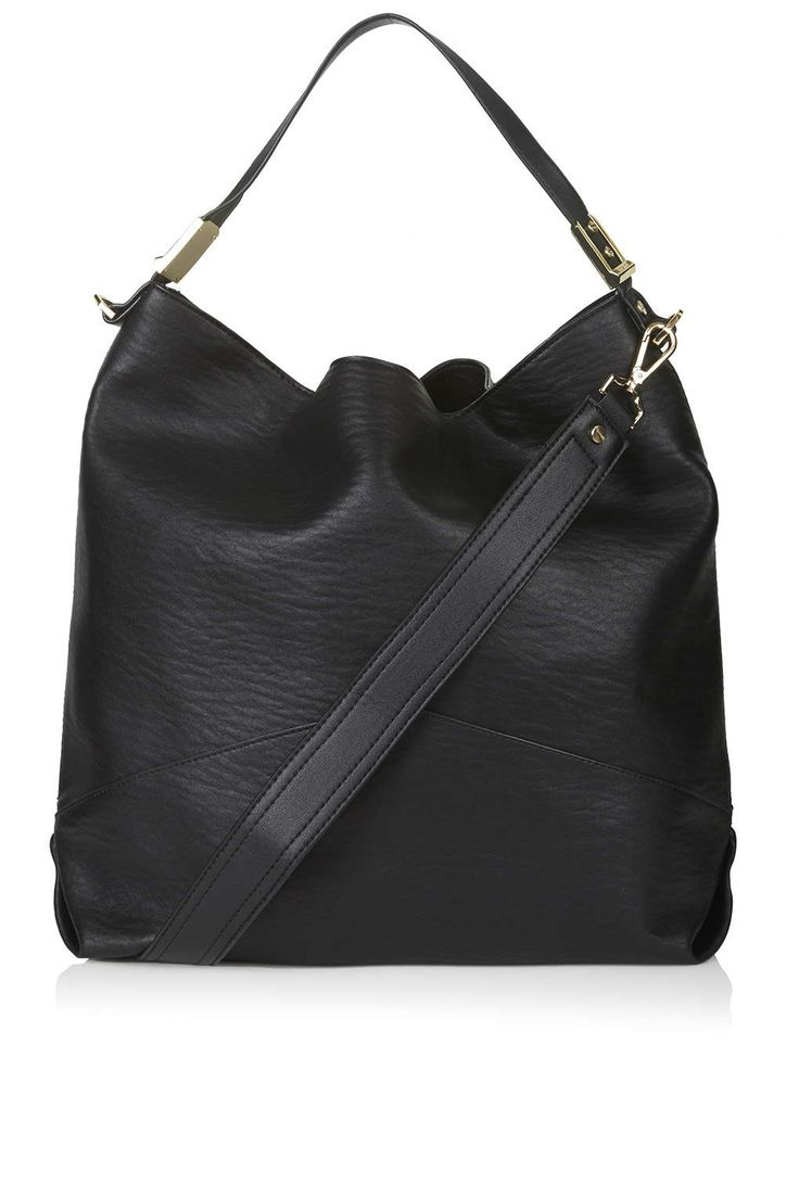 PU Bubble Textured Hobo Bag - Topshop