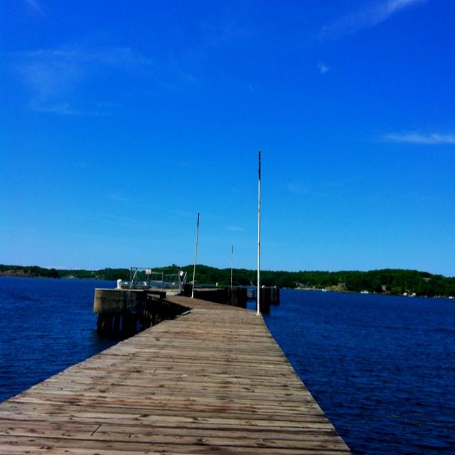 Dock in parry sound Ontario Canada