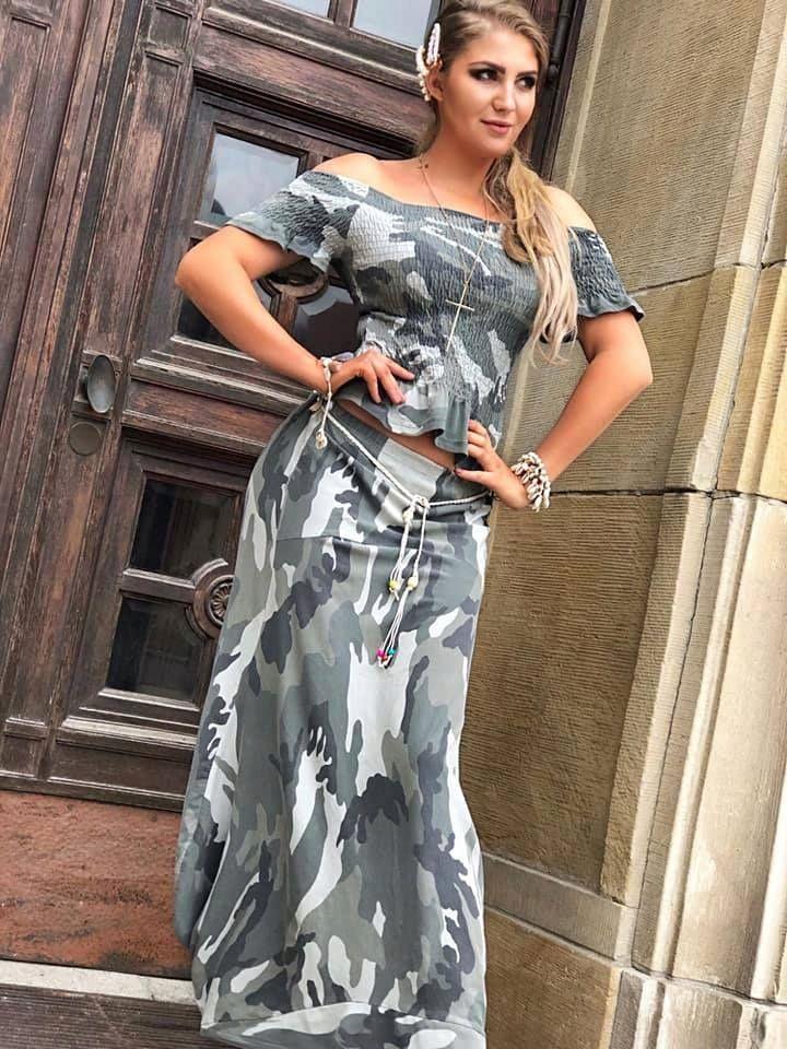 Komplet Zocco Moro Spodnica Bluzka Hiszpanka 8164539186 Oficjalne Archiwum Allegro Fashion Saree Sari