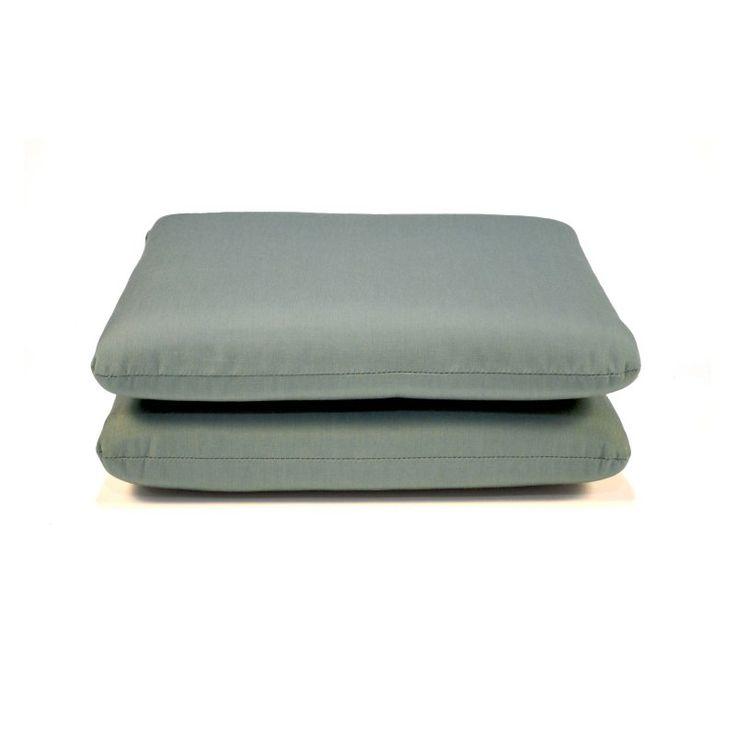 Casual Cushion Sunbrella Outdoor Seat Pad - Set of 2 Canvas Spa - DS2801-3200 2PK