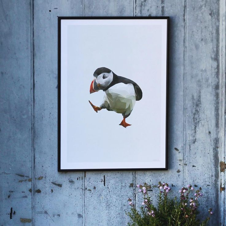 Dancing Puffin poster. Get it at my Etsy shop. Link in bio ⬆️#dancing #puffin #lunde #nationalbird #iceland #illustration #poster #plakat #print #art #grafiskdesign #graphic #graphicdesign #geometricart #geometric #polyart #nordic #northatlantic #wallart #minimalistic #simple #home #indretning #decor #interior #interiør #design #etsy #etsyshop #nordster