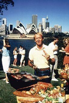 "08 October - Paul ""Hoges"" Hogan put a ""shrimp on the barbie"""