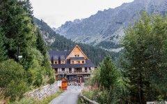 Slovakia hiking mountain hut