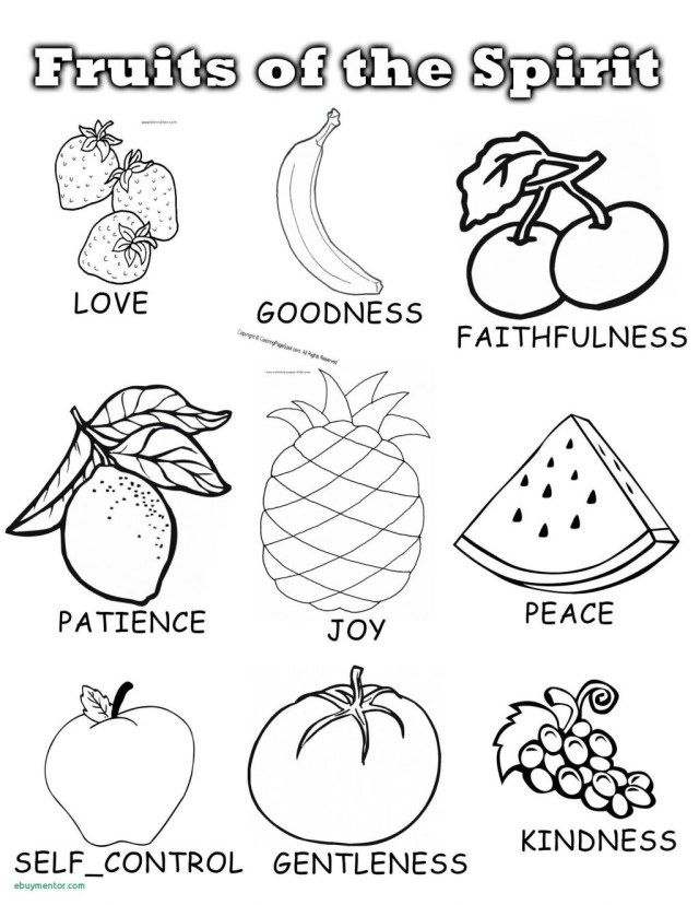 21 Amazing Image Of Fruit Coloring Pages Entitlementtrap Com Sunday School Coloring Pages Fruit Of The Spirit Fruit Coloring Pages
