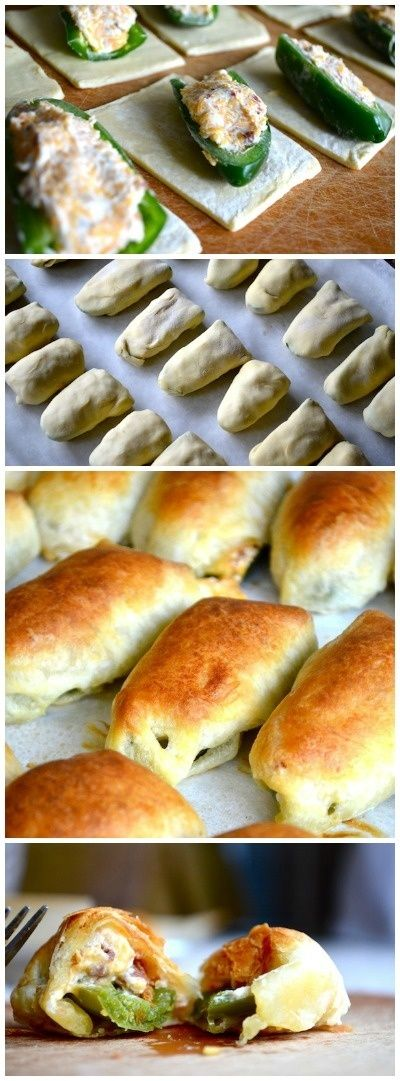 Puff Pastry Jalapeno Poppers... perfect recipe for all the jalepenos In my garden.