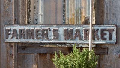Metal Farmer's Market Sign