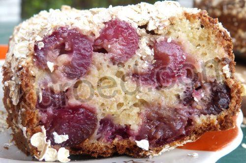 РЕЦЕПТЫ | Овсяный пирог с черешней