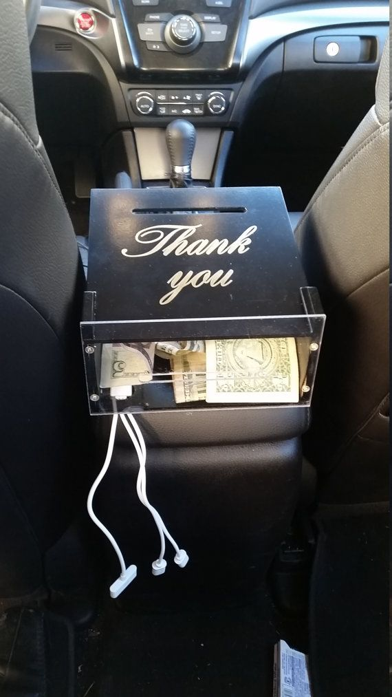Uber charging station TIP BOX by SammKwoodworks on Etsy