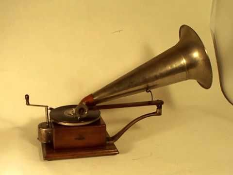 114 year old Berliner Gramophone playing record - YouTube