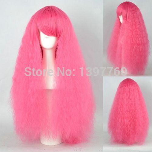 miss 00284 ng krullend partij pruik hot pink club cos vol haar pruiken
