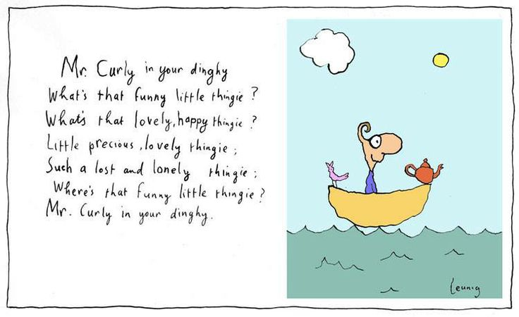Mr Curly in the dinghy