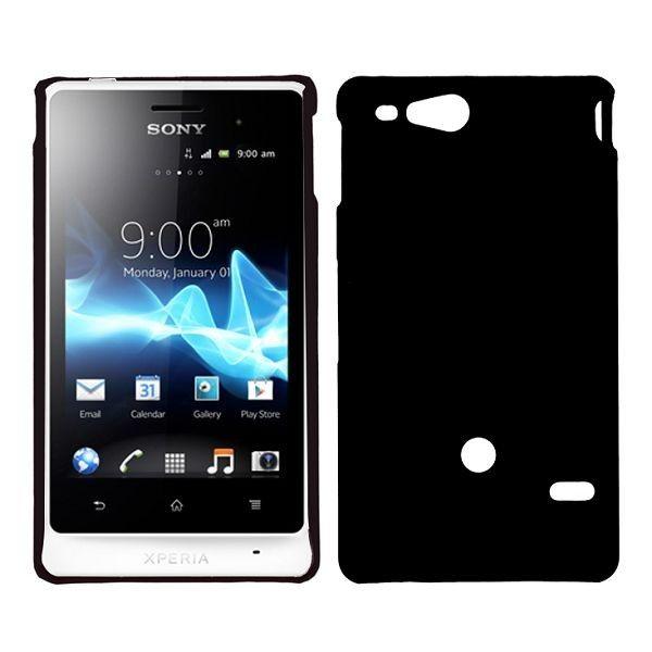 Hard Shell (Sort) Sony Xperia Go Deksel