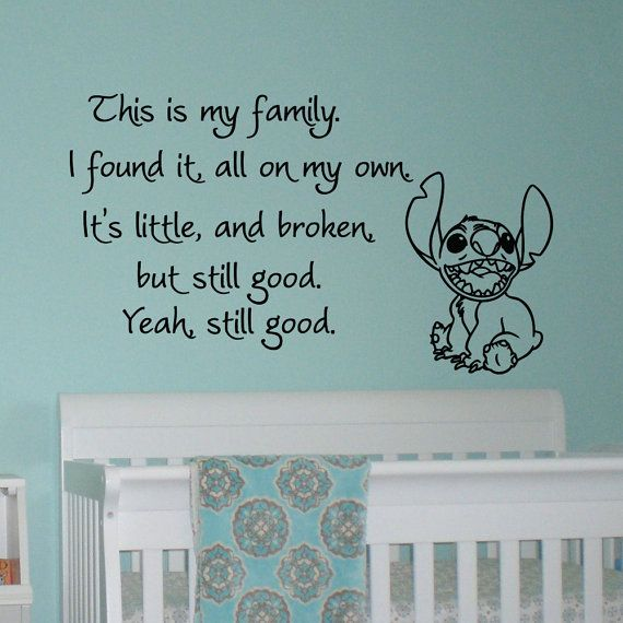 Vinyl Wall Decals Quotes Lilo And Stitch This Is My Family