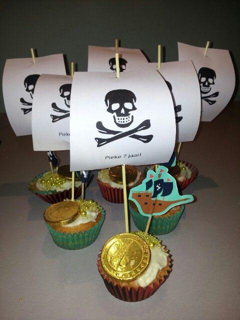 Piraten traktatie Pieke 7 jaar!