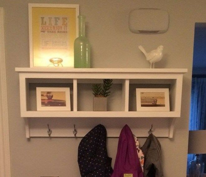 Wall Cubby Storage Unit Coat Rack Shelf With 3 Cubby Holes For Organization Rack Handmade Country Wall Cubby Storage Cubby Storage Wall Cubbies