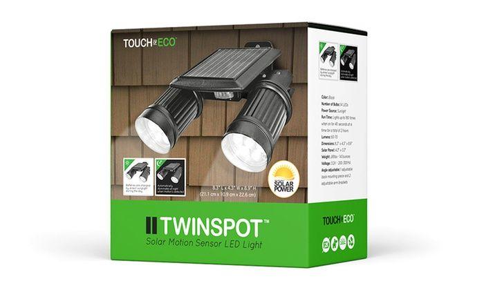 TwinSpot Solar Motion Light   Groupon
