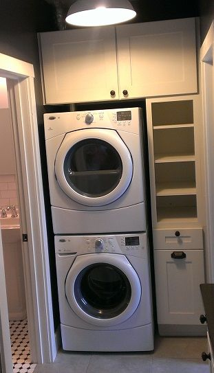 I Want To Stack My Washer And Dryer To Save Space In My Laundry Room In 2019 Laundry Room Sink