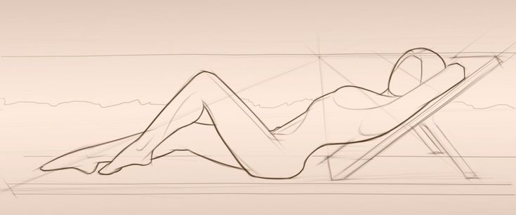 Female form Sketching | Hand Made Garden Sculpture in a Flowing, Elegant form by Adam Chirstopher