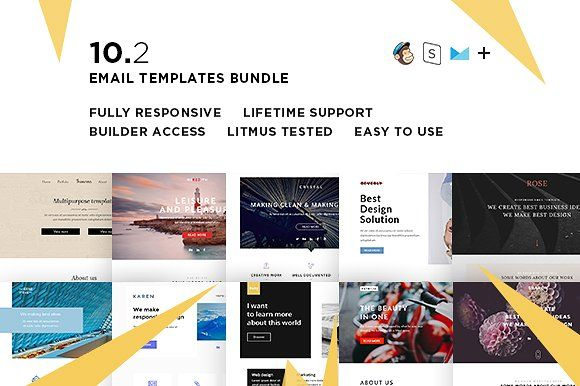 10 Email  templates bundle II  @creativework247