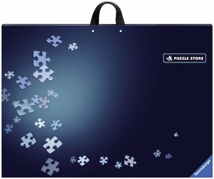 Makkelijke puzzeldoos waarop je zowel de puzzel kan maken, als waarin je de stukjes kan sorteren. Je maakt de puzzel op een afzonderlijke plaat. Even geen tijd meer om te puzzelen? Leg die afzonderlijke plaat op de verdeelvakjes en sluit de doos.
