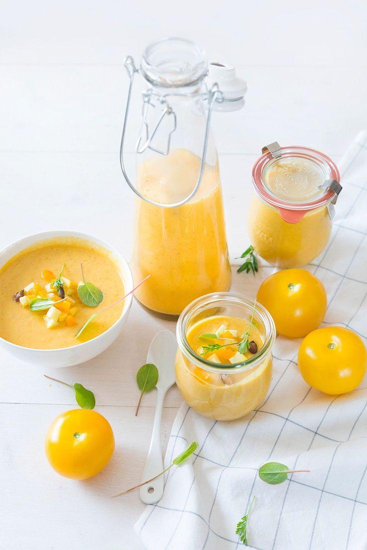 Gaspacho de tomates jaunes ©Fraise & Basilic