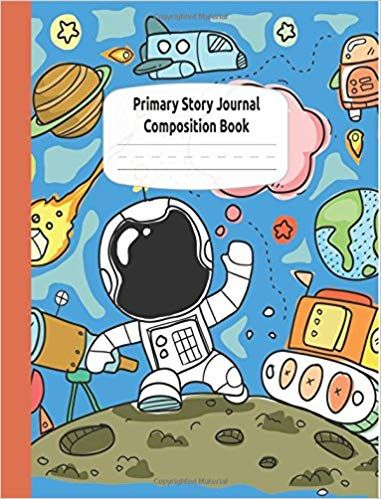 Astronauts And Rocket Ships Primary Story Journal Composition Book