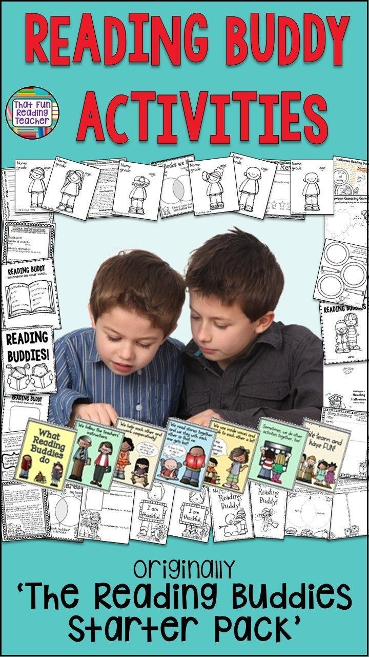 I've been making these fun and easy Reading Buddy Activities for big and little buddies for years, just to give the program some structure and the big buddies' teacher and I some peace of mind! ThatFunReadingTeacher $