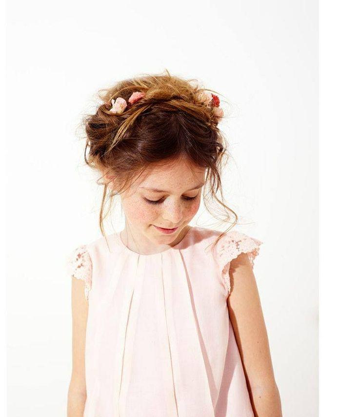 coiffure enfant et robe mango enfants d honneur