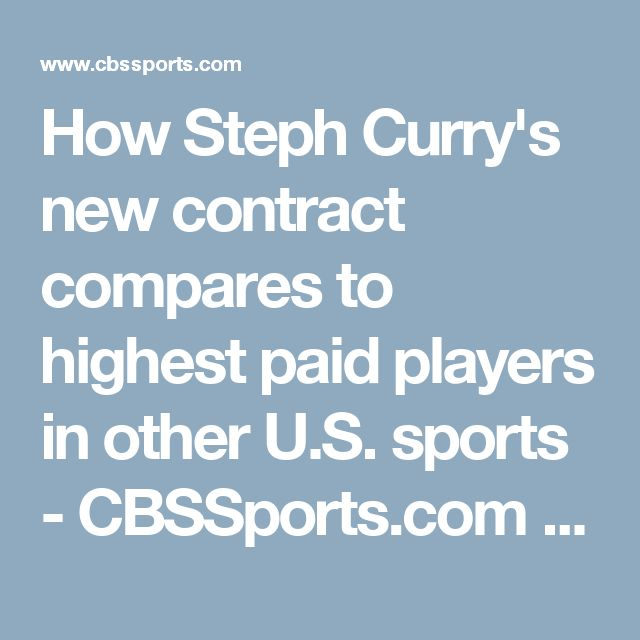 How Steph Curry's new contract compares to highest paid players in other U.S. sports - CBSSports.com http://www.cbssports.com/nba/news/how-steph-currys-new-contract-compares-to-highest-paid-players-in-other-u-s-sports/?ftag=COS-05-10aaa0h&utm_campaign=trueAnthem%3A+Trending+Content&utm_content=595765bf19694a0007eb3c67&utm_medium=trueAnthem&utm_source=facebook