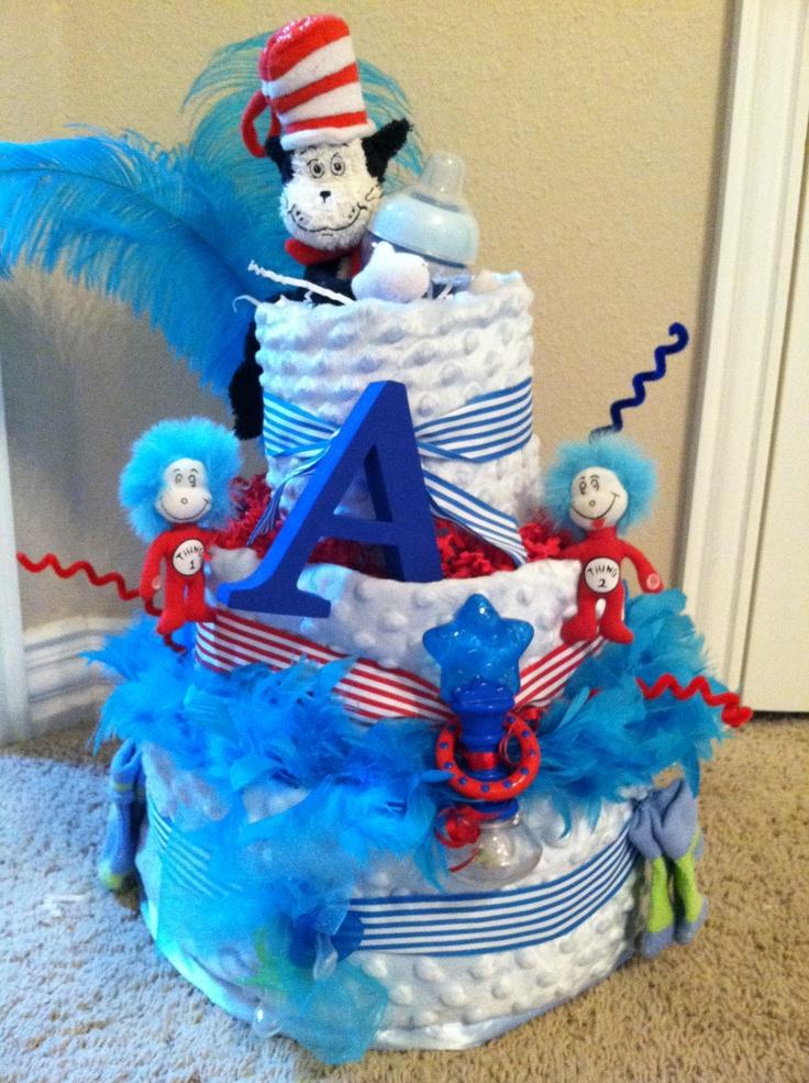 Dr Seuss Diaper Cake Diaper Cakes Pinterest Dr