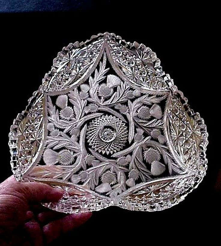 481 best images about Antique Cut / Etched / Crystal Glass ...