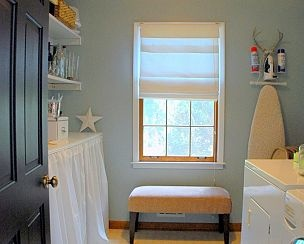 Our laundry room turned butlers pantry colors pantry for Roman pantry