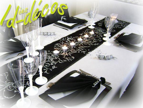 Decoration De Table Mariage Noir Et Blanc Avec Images Table