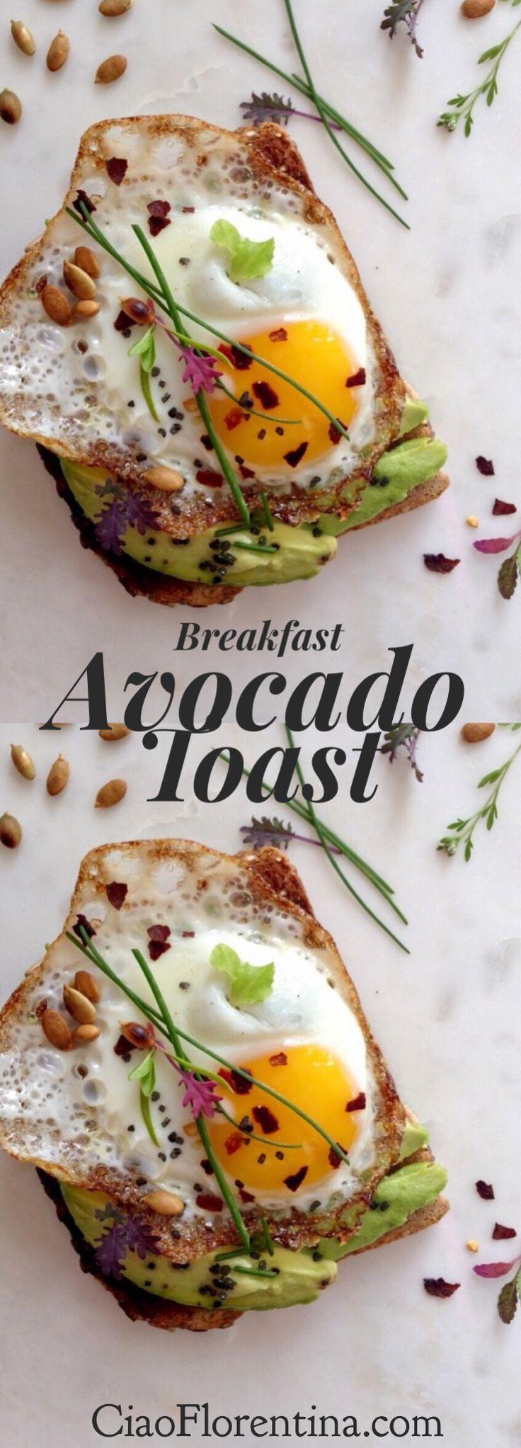 Breakfast Avocado Toast   | CiaoFlorentina.com @CiaoFlorentina
