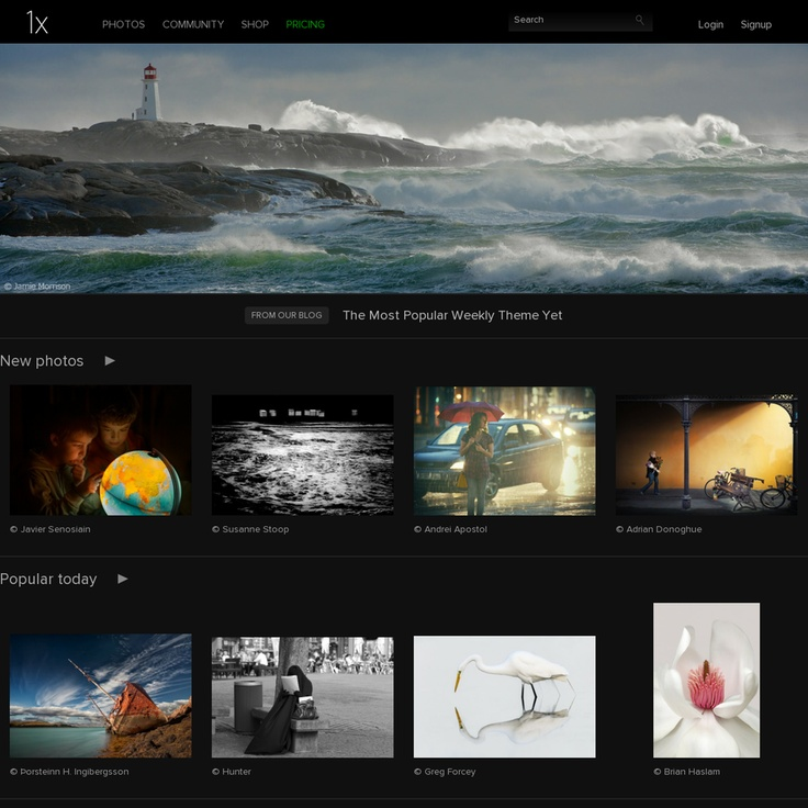 1X is a platform for photographers that want to create photos portfolios - http://1x.com/