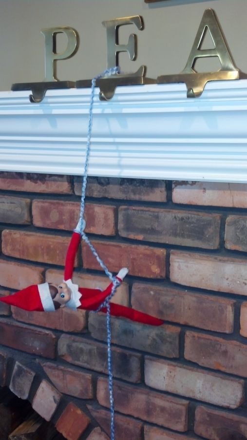 Mantel climbing + other Elf on the Shelf ideas - have ours coming down from the entertainment center...