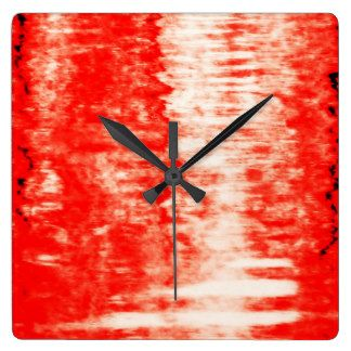 Red Sunrise Square Wall Clock