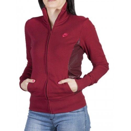 Nike Women S Full Zip Funnel Neck Jumper Top Sweatshirt Hoodie Sportswear UK