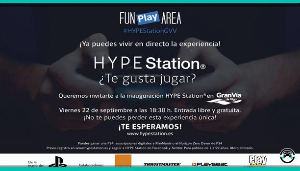 El viernes 22 de septiembre de 2017 se estrenó en el Centro Comercial de Gran Vía de Vigo un nuevo Hype Station que sumado al de Lugo hacen de Galicia la Comunidad Autónoma con más Hype Station del país. Se trata de un punto de encuentro para jugadores y consumidores donde podrán echarse unas partidillas en Playstation 4 para desconectar de sus tardes productivas de compras.  Para los despistados Hype Station es una cadena de espacios de recreo de la mano de Playstation que se distribuyen a…