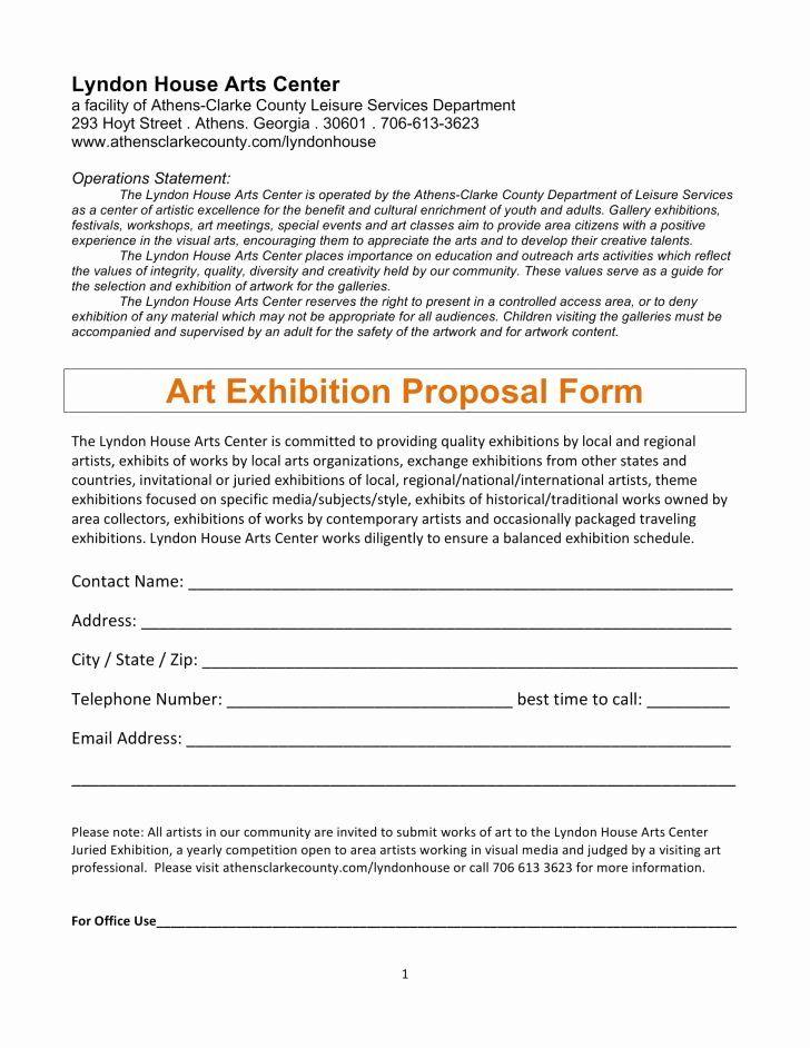 Artist proposal example inspirational artist proposal
