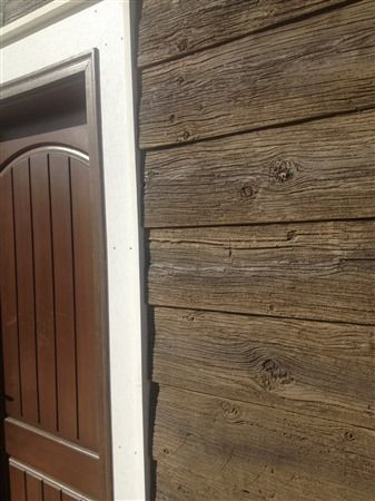 17 best images about exterior view on pinterest james for Wood look siding