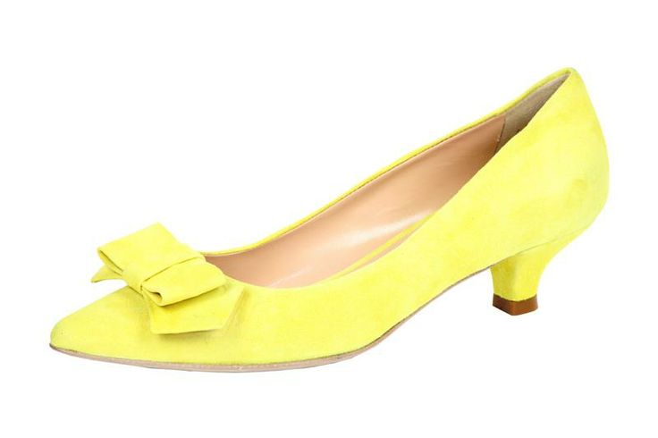 """Woman Fashion Shoes Made In Italy, decolletè """"kitten shoes"""" in suadè con fiocco in punta"""